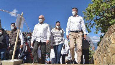 Photo of Alejandro Murat y titular del INAH asisten a la reapertura de Monte Albán